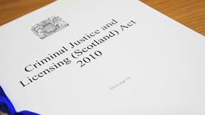 Criminal Justice and Licensing Act 16x9 colour JPG image